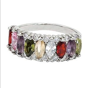 Sparkling candy crystal colorful ring